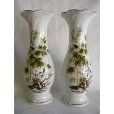 Japanese Flower Vases Oriental Porcelain Pair Of Japanese Flower Vases As Per Photo