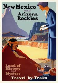 Arizona travel posters images Vintage travel poster new mexico and arizona rockies jpg