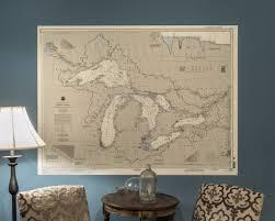 great lakes nautical chart wall mural the nautical chart company great lakes nautical chart wall mural