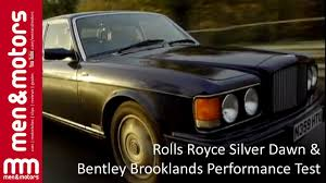 bentley brooklands 2013 rolls royce silver dawn u0026 bentley brooklands performance test at