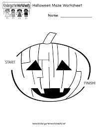 halloween download free halloween maze worksheet free kindergarten holiday worksheet for