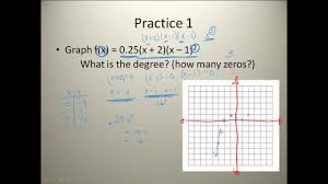 analyzing graphs of polynomial functions youtube