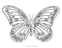 monarch butterfly printouts outline tattoo template kindergarten