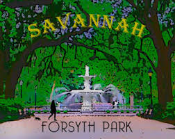 Home Decor Savannah Ga Forsyth Park Etsy