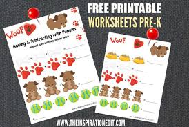 free dog maths worksheets for 3 5 year olds the inspiration edit