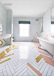 Herringbone Bathroom Floor by Shut Up This Tile And Set Up Is Amazing Bathrooms Pinterest