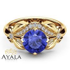 natural tanzanite rings images Bluish violet tanzanite engagement ring natural tanzanite ring 14k jpg