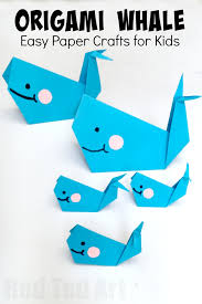 Easy Paper Craft For Kids - easy origam whale for kids super cute fun and easy whale a