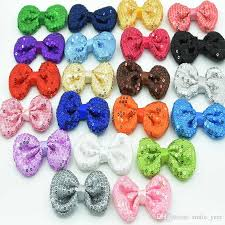 cheap hair bows bling bows sequine bows embroidery sequine hair bows embroidery