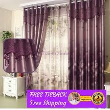 Blackout Purple Curtains Blackout Purple Sheer Curtain Drape Custom Made Eyelets Pleat Rod