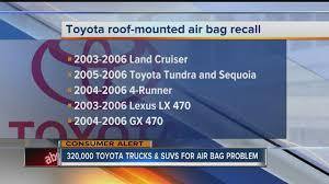 recall on lexus gx470 toyota recalls 320 000 trucks and suvs for air bag problem youtube
