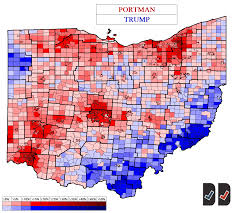 County Maps Of Ohio by Ohio 2016 Buckeye Red All Over The Map U2013 Decision Desk Hq