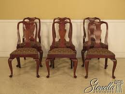 Queen Anne Dining Room Furniture by Henkel Harris Mahogany Queen Anne Dining Chairs Set Of 6 Ebay
