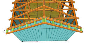 Plans To Build A Wood Shed by How To Build A Roof For A 12x16 Shed Howtospecialist How To