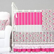 pink and grey crib bedding caden lane