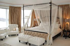 Gold Canopy Bed Gold Bed Canopy With Beige Wainscoting Bedroom Traditional And