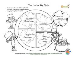 holiday 3 lucky plate coloring st patricks theme