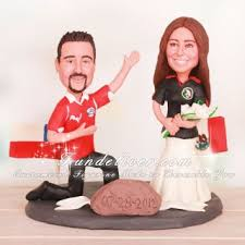 football wedding cake toppers multinational chile and mexico football wedding cake toppers