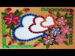 paper quilling how to make a beautiful three heart