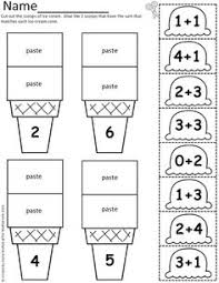ice cream math scoops addition and subtraction up to 20