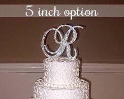 bling wedding cake toppers large 8 inch bling rhinestone wall letter cursive