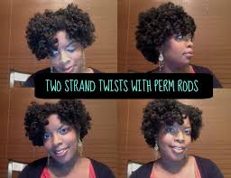 stranded rods hairstyle natural hair tutorial braids twists on perm rods youtube