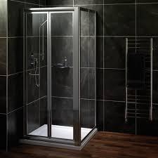 Easy Clean Shower Doors Vicenta Bi Fold Shower Door 6mm Easy Clean Glass Hugo Oliver