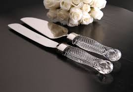 wedding cake server waterford wedding cake server