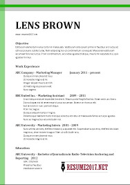example of simple resume format chronological resume sample