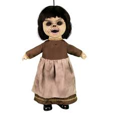 totally ghoul coffin doll halloween decoration brown dress