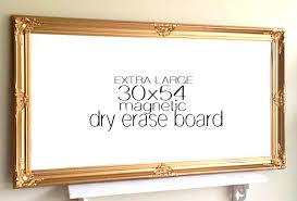 extra large magnetic whiteboard gold and white baroque large