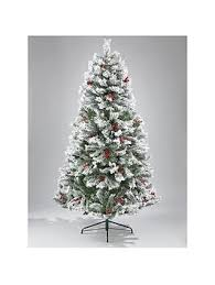 christmas tree with snow bavarian pine christmas tree with snow 7ft littlewoodsireland ie
