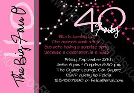 40th birthday invitations for marialonghi