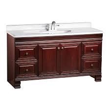 Traditional Bathroom Vanity by Shop Estate By Rsi Cambridge Burgundy 60 In Traditional Bathroom