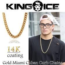 necklace chains hip hop images Criminal king ice surface of necklace 14 k gold coating gold jpg