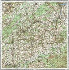 Kaiserslautern Germany Map by Download Topographic Map In Area Of Kaiserslautern Neunkirchen