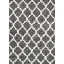 grey shag area rugs shop carpet art deco fusion rectangular indoor