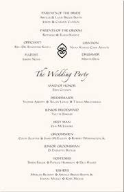 sle wedding program template sle wedding program for emcee all things bright
