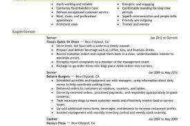 Resume For Server Job by Food Server Resume Description Food Service Waitress Waiter