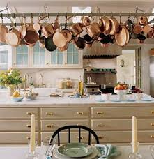kitchen pot racks with lights beautiful pot rack with copper pots awesome decor pinterest