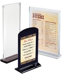 Buffet Sign Holders by Table Tent Sign Holders Clear Acrylic Displays For Restaurants