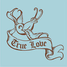 swallow birds with true love banner tattoo design tattoos book