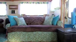 motorhome jack knife sofa recover youtube