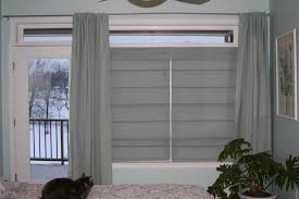 interior transom windows with glass window and blinds plus white