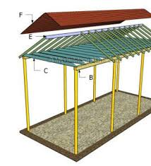 Free Woodworking Plans Pdf by Skillion Roof Carport With Lined Ceiling And Colorbond Roof