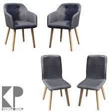 Esszimmerstuhl Mit Armlehne Grau 2 4 6 8 Set Stühle Esszimmerstühle Stuhl Sessel Armlehne