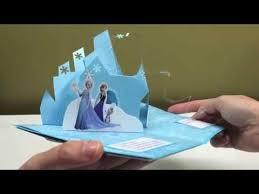 pop up frozen birthday card youtube