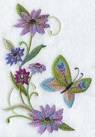 peacock butterfly and flowers design f9060 from emblibrary com