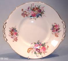 Vintage China Patterns by Coalport Junetime Cake Plate Serving Plate Sandwich Plate