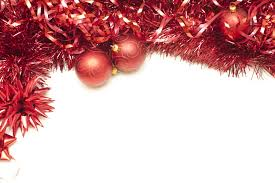 photo of festive border of tinsel and baubles free
